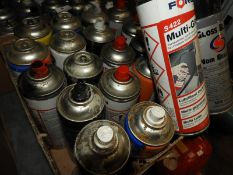 *20 Aerosols of Assorted Paints, Silicone Lubrican