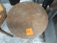 * x3 copper top tables with wooden bases, good condition, vintage looking.