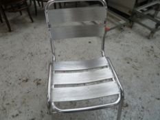 * x8 silver outdoor chairs, great condition, cleaned.