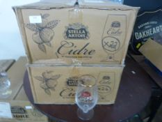 *Two Boxes Containing 46 Stella Artois Cider Glass