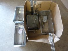*Box of Fryer Baskets, Thermometer, etc.