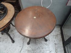 * heavy wooden tables x2 restaurant style wooden tables, metal bases.