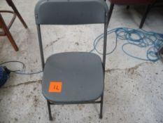 * Plastic/metal base stools x8 school type stools good condition.