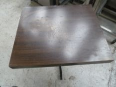 * x2 square brown tables, good condition.(600Wx745Hx700D)