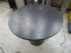 * x2 circle brown tables, good condition.(755H)