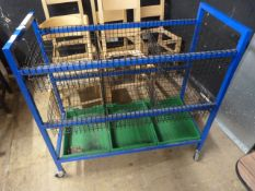 *Mobile Storage Unit with Wire Baskets and Trays