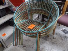 * Garden chairs x9 metal garden chairs, very sturdy, ideal for outdoors.