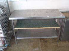 Stainless Steel Prep Table with Shelf 140 x 94 x 65cm