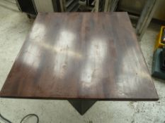 * x2 square brown tables, good condition.(800Wx755Hx800D)