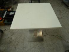 * x2 square white tables, good condition.(700Wx755Hx700D)