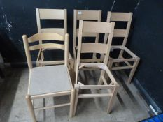 *Five Wooden Chairs (Four Seats Missing)