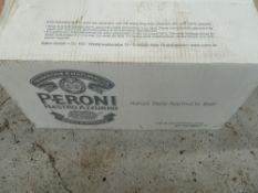 * x24 Peroni half pints,x24 Peroni pint glasses, clean condition, no chips or cracks.