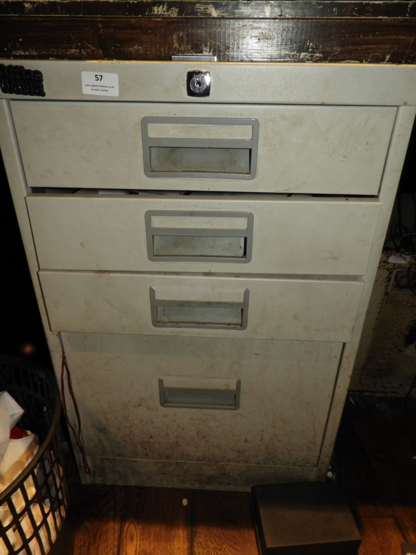 Lot 57 - *Four Drawer Filing Unit Containing Assorted Stati