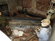 Hull Lift Exhibit Depicting a Bomb Damaged Scene
