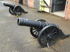 Pair of Replica Cast Iron Cannons