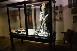 Ebonised Mahogany Glazed Display Unit on Four Square Tapered Legs