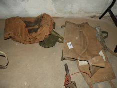 Three Military Canvas Bags 1940's onwards