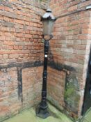 Cast Iron Lamppost with Six Sided Lantern 2.5m High