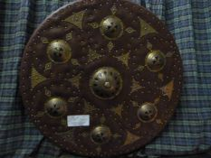 Johnstone Collection: Antique Style Scottish Shield with Brass Embossing