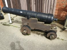 George III 12lbs Cast Iron Cannon on Truck
