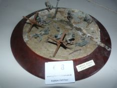 """Diorama Entitled """" US Attack on Omaha Beach, D-Day 1944"""""""