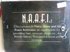 NAAFI Sign