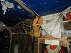 Assorted Maritime and Nautical Display Items Including Lobster Pot