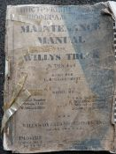 Maintenance Manual for Willis 1/4 Tonne 4x4 in English and Russian dated 1942
