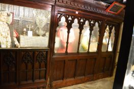 Pitch Pine Rood Screen with Elaborate Gothic Carving