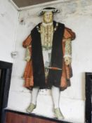Life Size Printed Cut Out Model of Henry VIII