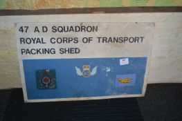 Metal 47AD Squadron Sign