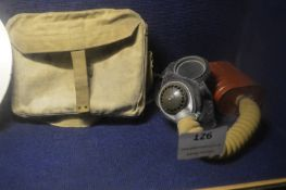 Gas Mask with Canvas Bag