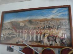 Large Painting of British Napoleonic Troops