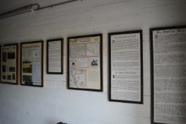 Six Framed Information Panels Depicting the History of Fort Paul