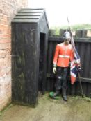 GRP Guard in Victorian Style Parade Dress Uniform with Sentry Box