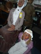 Life Sized Mother & Daughter in Period Costume