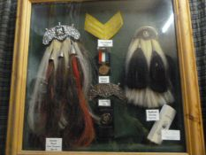 Johnstone Collection: Kuwait Exhibit with Medal Sporrans, John Major Stripes, etc.