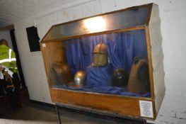 Oak Glazed Display Cabinet with Illumination