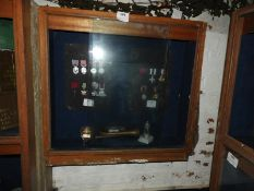 Mahogany Display Cabinet Enclosed by Sliding Doors Made by Armstrong's of Hull
