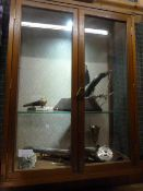 Johnstone Collection: Antique Glazed Oak Display Cabinet (Contents not Included)