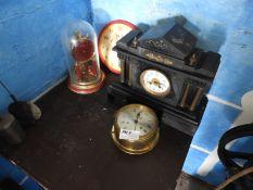 Four Assorted Clocks