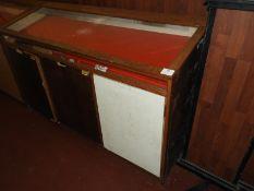 Slope Topped Oak Framed Glazed Display Cabinet