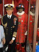 Waxwork Model of Beefeater Guard in Replica Uniform