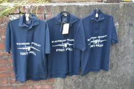 Three Navy Blue Fort Paull Shirts Size: S