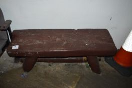 Dutch Style Carved Wood Bench