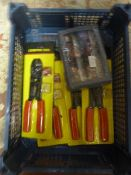 *Four Wire Crimping Tools and a Router Cutter Set