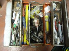 Cantilever Tool Box Including Assorted Tools
