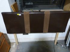 Leatherette Single Bed Headboard