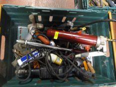 Assorted Tools; Grease Gun, Drill, Yankee Screwdri