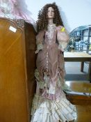 "Large Doll in Victorian Dress ~41"" Tall"